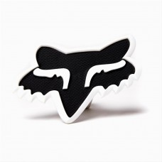 White Fox Head Trailer Hitch Cover
